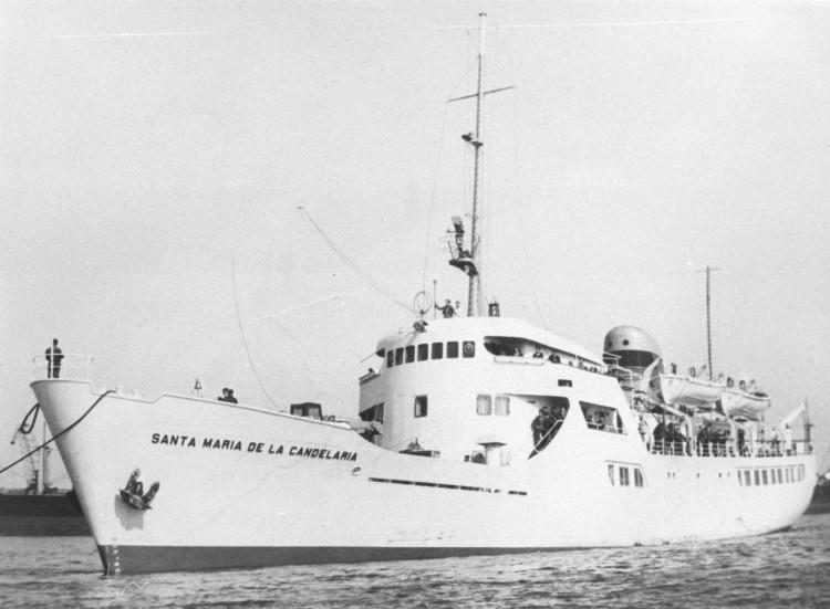 """El buque """"Santa María de la Candelaria"""", el día de su entrega oficial a Trasmediterránea"""