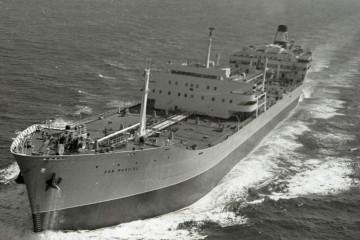 """El petrolero """"San Marcial"""", en sus pruebas de mar"""