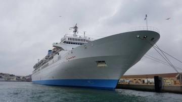 """El buque """"Thomson Spirit"""", en Ceuta, visto por la amura de estribor"""