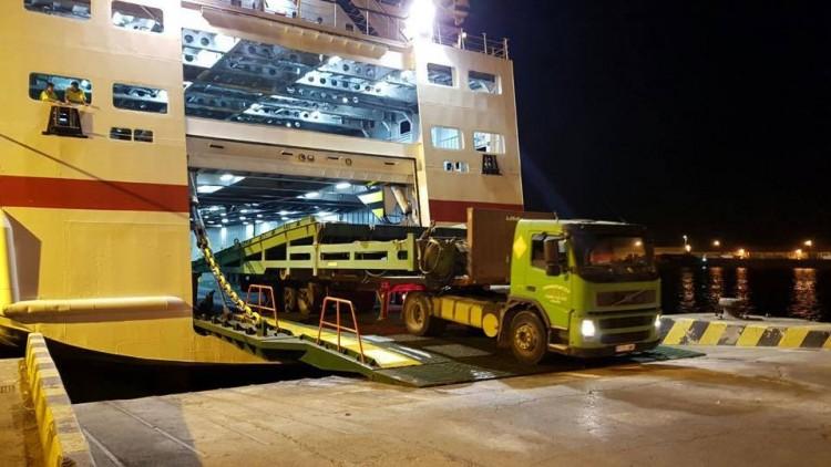 """La segunda rampa llegó a Ceuta a bordo del buque """"Las Palmas de Gran Canaria"""""""