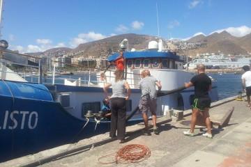 """El buque """"Callisto"""" se encuentra atracado en la Dársena de Los Llanos"""