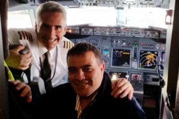 El comandante Alberti y Chano Gutiérrez,  una amistad nacida gracias a la aviación