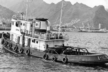 """Estampa marinera del remolcador """"CEPSA"""", conocido como """"CEPSA Primero"""