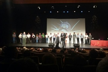 El acto de homenaje se celebró en septiembre de 2014 en el auditorio de El Sauzal