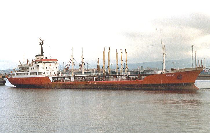 """El buque-tanque """"Moncloa"""", en su etapa con CEPSA"""