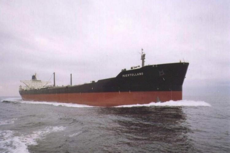 """El petrolero """"Puertollano"""", en sus pruebas de mar"""