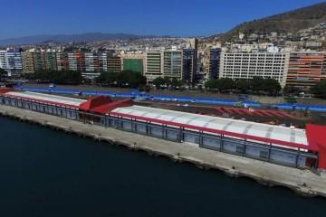 Panorámica de la nueva terminal de cruceros del puerto de Santa Cruz de Tenerife