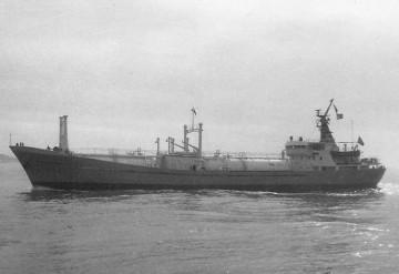 """Estampa marinera del buque gasero """"Valle de Nervión"""""""
