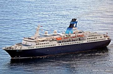 """El buque """"Saga Pearl II"""", a su llegada a Santa Cruz de La Palma"""