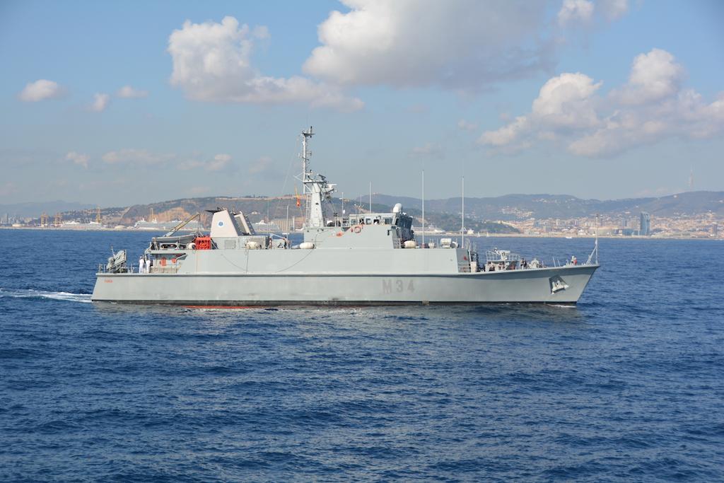 Los buques cazaminas representan a la Armada en el Salón Náutico Internacional de Barcelona