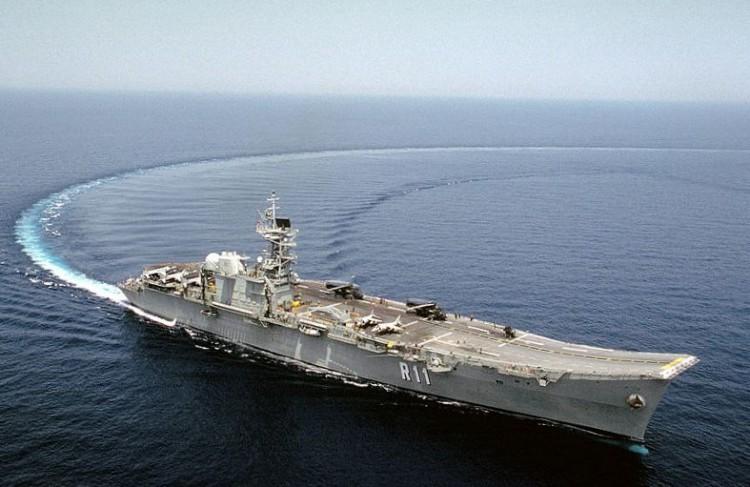 """El portaaeronaves """"Príncipe de Asturias"""" fue el buque insignia de la Armada española entre 1989 y 2013"""