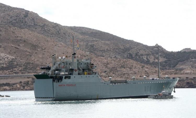 """El buque """"Martin Posadillo"""", a su llegada a Cartagena"""