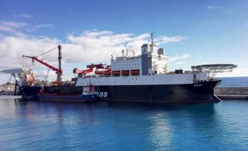 """El buque """"Solitaire"""", atracado en Las Palmas de Gran Canaria"""