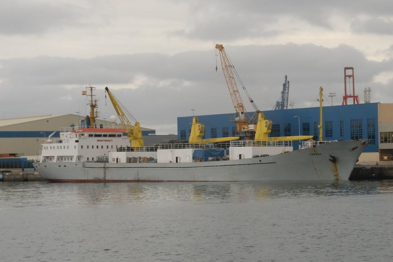 """El buque """"Sierra Grana"""" en la actualidad, renombrado con el nombre de """"Lian Run"""""""
