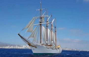"""El buque-escuela """"Juan Sebastián de Elcano"""" estará del 5 al 9 de diciembre en La Palma"""