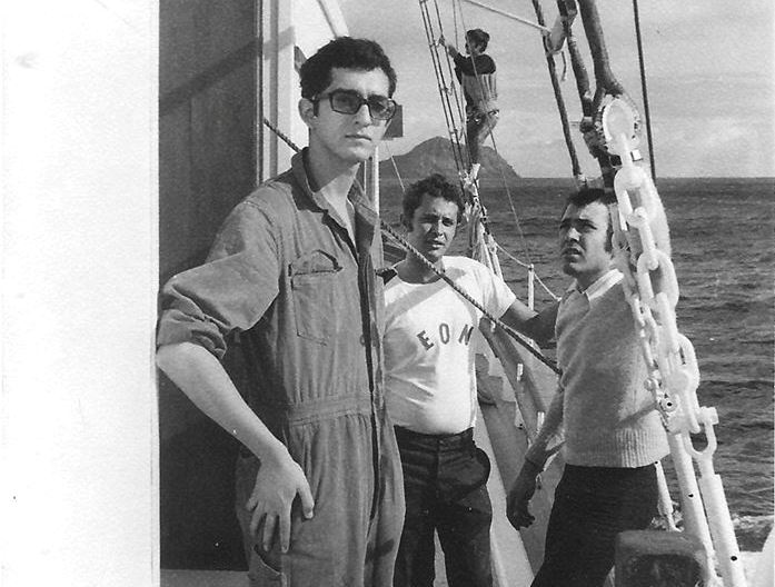 De izq. a dcha: Juan Manuel  Pérez Rodríguez, Antonio Padrón y Luis Cañadillas Estévez