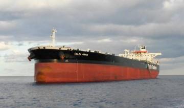 """El petrolero """"Delta María"""" durante su escala en el puerto de Santa Cruz de Tenerife"""
