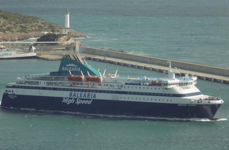 "El ferry griego ""Nissos Chíos"" es un comodín para Balearia"