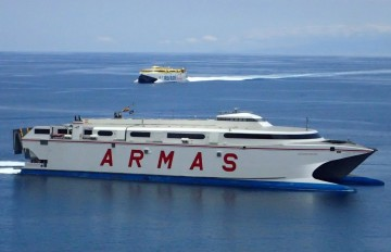 """El catamarán """"Volcán de Tirajana"""" permanecerá fuera de servicio hasta el 1 de diciembre"""