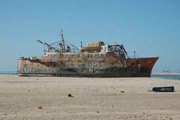 Los bancos de arena del desierto del Sahara lo han dejado literalmente en seco