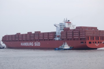 """""""Santa Cruz"""", uno de los 130 buques de la flota de Hamburg Süd"""