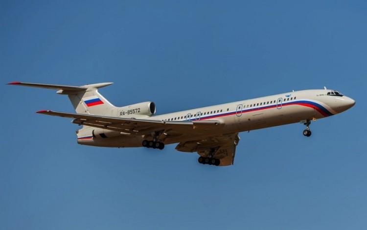 Este es el avión Tupolev Tu-154 accidentado en aguas del Mar Negro