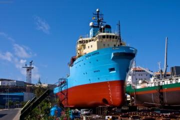 """El buque """"Maersk Shipper"""", en ASTICAN (2011)"""
