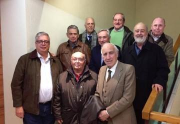 """El grupo de ex """"trasatlánticos"""", en su reciente encuentro en Madrid"""