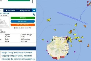 """Evolución de la maniobra del petrolero """"Nordic Passat"""", al noreste de Gran Canaria"""
