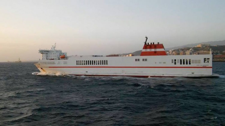 """El buque """"Super-Fast Baleares"""", saliendo esta mañana de Las Palmas de Gran Canaria"""