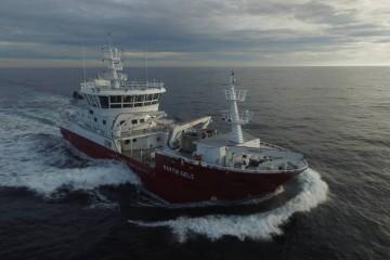 """El buque """"Martin Saele"""", en sus pruebas de mar"""