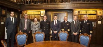 Foto de familia tras el acto celebrado ayer en la sede del Museo Naval de Madrid