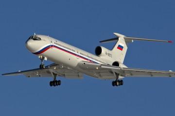 Imagen del avión Tupolev Tu-154B-2, RA-85572, en corta final en el aeropuerto militar de Chkalovsky