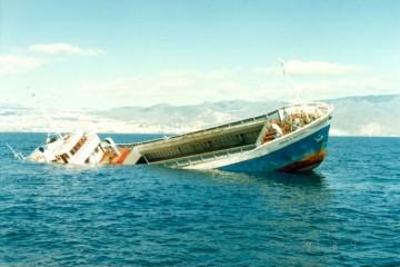 """El buque """"Mireya G. Masiques"""", antes de su hundimiento intencionado"""