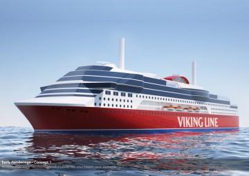 Imagen externa del futuro ferry contratado por Viking Line en China