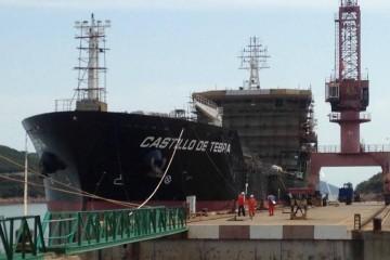 """El buque """"Castillo de Tebra"""", en fase final de armamento"""