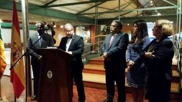Serge Ibáñez, nuevo cónsul de Mali en Santa Cruz de Tenerife, en su intervención