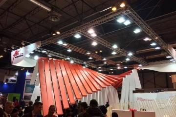 Panorámica del stand de Trasmediterránea en Fitur 2017