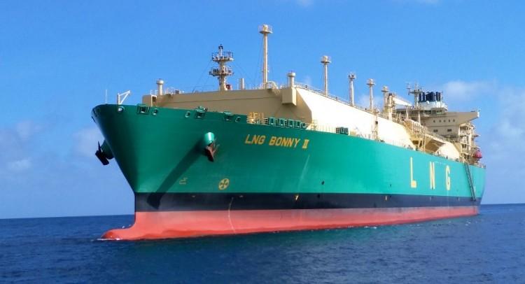 """El buque metanero """"LNG Bonny II"""", en aguas de Santa Cruz de Tenerife"""