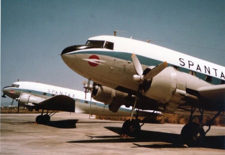 Spantax fue una de las aerolíneas operadoras del avión Douglas DC-3 en España