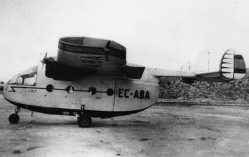 Curioso avión Miles M.57 Aerovan IV EC-ABA