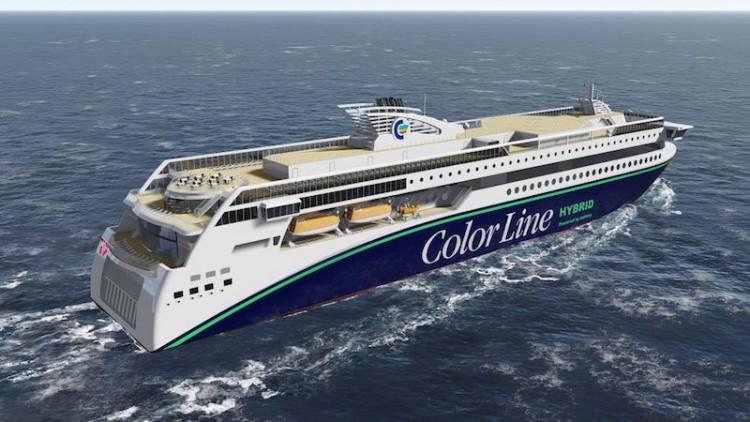 Este será el aspecto exterior del futuro ferry híbrido mayor del mundo