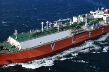 """El buque etanero """"Ethane Crystal"""", en sus pruebas de mar"""
