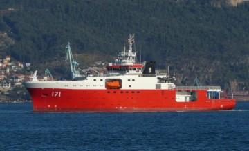 """El BAP """"Carrasco"""", en pruebas de mar en aguas de la ría de Vigo"""