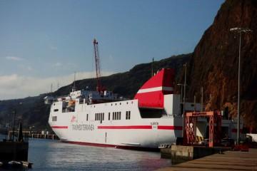 """El buque """"Albayzin"""", visto por la aleta de babor"""