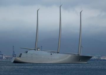 """Este es el aspecto exterior del nuevo megayate velero """"A"""""""