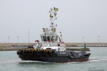 "Estampa marinera del remolcador ""VB Sahara"""