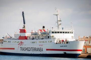 """El buque """"Nura Nova"""", preparado para su nueva etapa fletado por Trasmediterránea"""