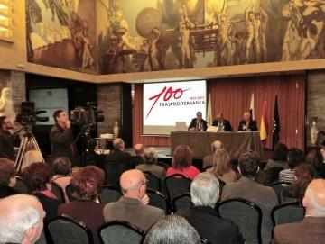 El primer acto del Centenario de Trasmediterránea en Canarias se celebró el 16 de febrero en el Real Casino de Tenerife