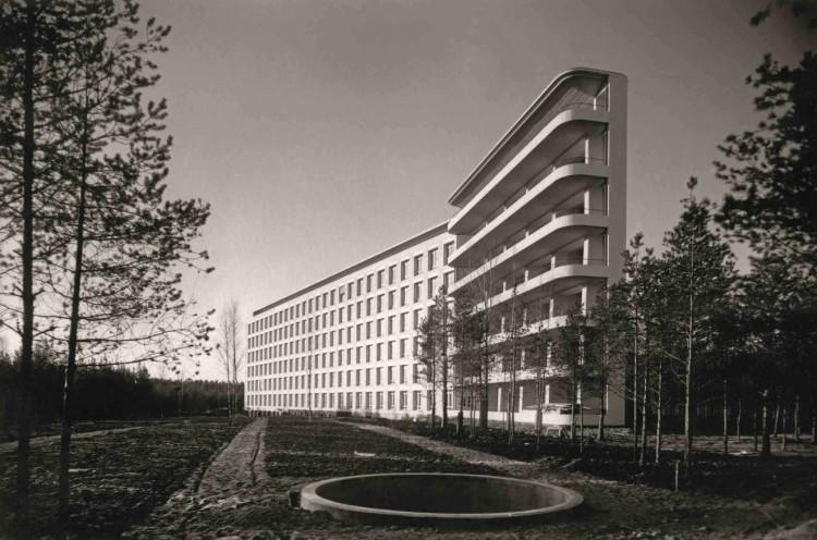 Sanatorio de Paimio. Primera obra de especial relieve de Alvar Aalto